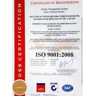 AKUATİK ISO 9001 Belgesi