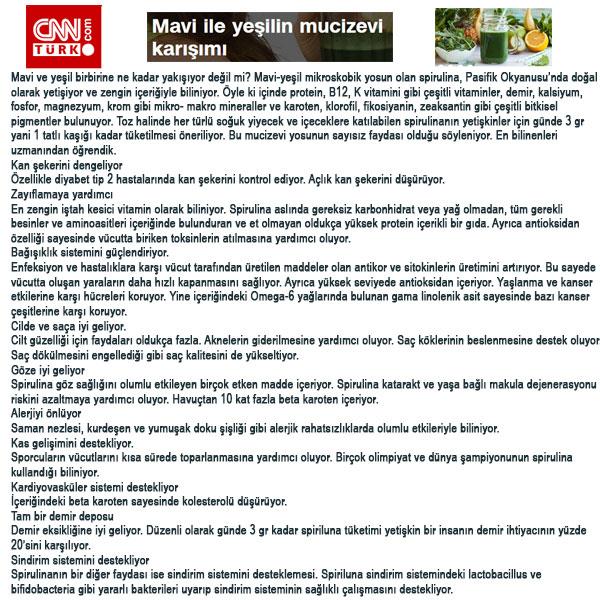 Spirulina Chlorella Klorella CNN Türk Haberi