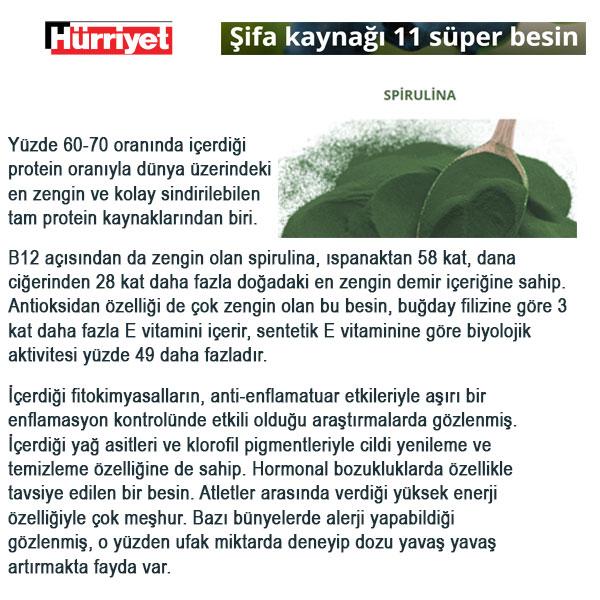 Spirulina Chlorella Klorella Hürriyet Haberi